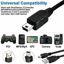 3 Meter Long USB to MINI B Data Charger Cable For Garmin Dash Cam GoPRO MP3 MP4