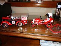 Vintage Texaco 1941 Garton Race Hauler & 1947 BMC Racer Pedal Car Set of 2 NIB