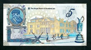 Royal Bank of Scotland (P363) 5 Pounds 2004 Commemorative St. Andrews Golf UNC