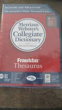 Palm Merriam-Webster'S Collegiate Dictionary & Franklin Thesaurus New & Sealed