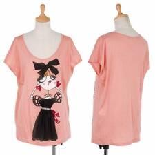 (SALE) LOVE MOSCHINO Girl print fabric sticking T-shirt Size 40(K-30328)
