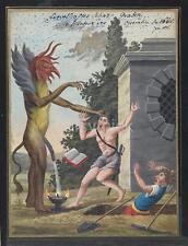 Demon Devil Monster Grave Fantasy Beast Ogre 1766 7x5 Inch Reprint Print