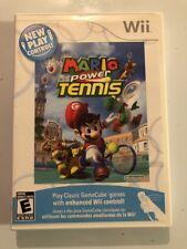 Mario Power Tennis (Nintendo Wii, 2009) Game, Case, Manual Tested