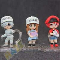 3pcs/set Cells at Work! Platelet White Red Blood Cell Q ver. Figure Toy PVC New