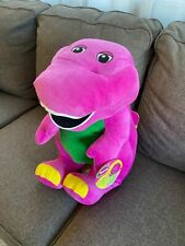 "NEW Jumbo 26"" Barney the Dinosaur Speak N Sing Plush Stuffed Animal Fisher-Price"