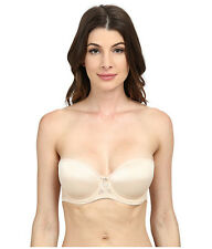 a30db3ab07 LE MYSTERE SENSUELLE STRAPLESS UNDERWIRE BRA NUDE LACE  2855 SIZE 32 B NEW!   68