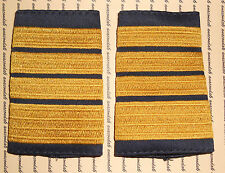 Schulterklappen Rangabzeichen Marine Admiral gold blau NEU  ##F1616