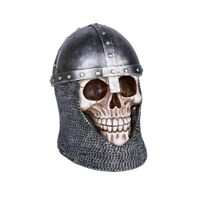 Medieval Knight Skull Figurine New