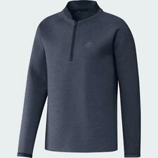 adidas Golf Club Half Zip Sweatshirt (Navy Melange - Large)