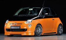 Rieger Seitenschweller Carbon-Look mit Schacht und Ausschnitt für Fiat 500