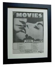 THE MOVIES+Double A+Big+POSTER+AD+FRAMED+RARE ORIGINAL 1977+EXPRESS GLOBAL SHIP