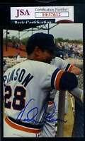 Vada Pinson JSA Coa Hand Signed Original Photo Autograph