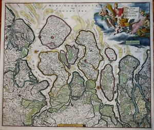 HOLLAND - LAND-CAERT DES GRAEFSCHAPS ZEELAND BY VERMEY, CIRCA 1718.