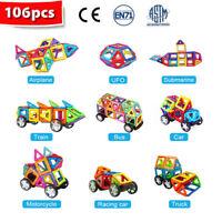106 Teiliger Magnetische Bausteine Bausatz Enthält Riesenrad Geschenk für Kinder