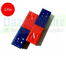 Ferrite Block Magnet Coloured North South - 14 x 10 x 50mm - Pack of 2