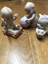 Lot of 3 Vintage 1993 Jesco Kewpie and Precious Moment Figurines