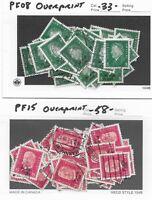 Bulk Lot 1500 Stamps with overprints / 1928-1932 / Presidents Ebert & Hindenburg