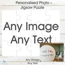 Personalised Jigsaw Photo Puzzle Custom Image Printed Picture Text Message Gift