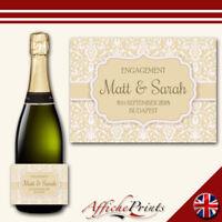 L151 Personalised Celebration Wedding Engagement Custom Prosecco Bottle Label