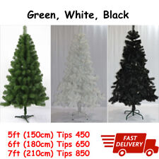 Christmas Tree 5ft 6ft 7ft with Metal Stand Artificial Xmas HomeDecor Decoration