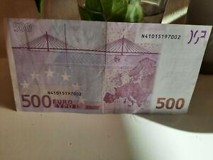 Echter 500Euro Schein für Sammler N Serie 2002 N41015197002