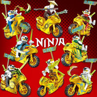 Ninjago Season 12 Golden Motorcycles 8 Custom Minifigures Set - USA SELLER