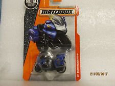 Matchbox BMW R1200 RT P Motorcycle Police New Sealed on Card