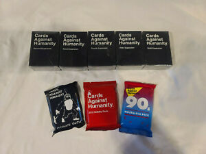 Cards Against Humanity Expansion Packs 2-6 + Holiday, Science & 90s Bonus Paks