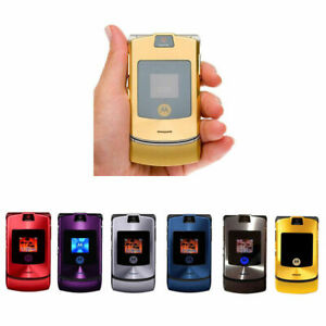 Original Motorola RAZR V3i GSM 1.2MP Camera Flip Unlocked Mobile cell Phone