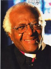 Desmond Tutu signed 8x10 photo / autograph slightly smudged