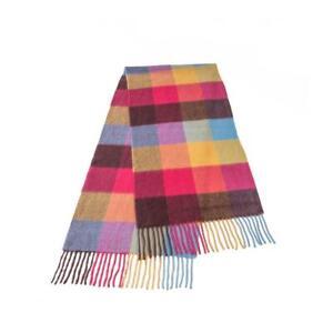 Warwick & Vance 100% Wool Ladies Woollen Scarf  - Tartan, Gingham, Plaid, Plain