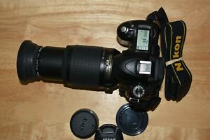 Nikon AF-S 55-200mm f4-5.6 DX G ED VR lens w/ Nikon D50 6.1mp Digital SLR Ex +++