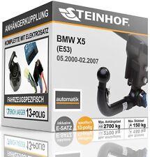 Anhängerkupplung abnehmbar Für BMW X5 E53 00-07 + E-SATZ 13-polig SPEZIFISCH