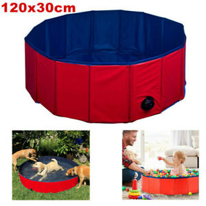 2-in-1 XL Dog Puppy Pool Ocean Ball Pit Portable Folding 120 cm x 30 cm UK Stock