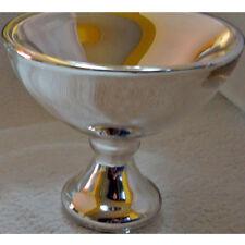 COPPA CENTRO TAVOLA VETRO BAGNATO IN ARGENTO NUOVO ORIGINALE NEW ORIGINAL GLASS