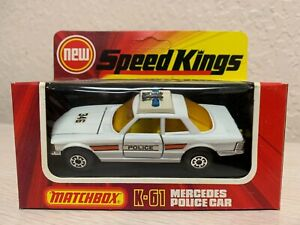 Matchbox Speed Kings K-61 Mercedes Police Car Vintage 1975 Lesney England MIB