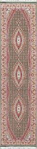Geometric Oriental Runner Rug traditional New Medallion Green Carpet