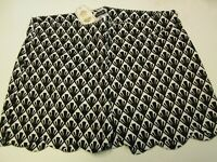 Black and White Scallop Shorts by Mud Pie, Size Small (4-6), NWT