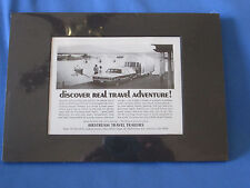 Vintage Airstream Travel Trailer Ad From 1972  Matted and Ready To Frame
