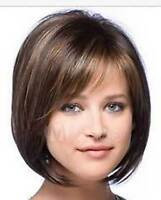 LMJF73 short brown mixed blonde straight health fashion  hair wig wigs for women