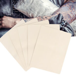 10Pcs Blank Tattoo Practice Soft Fake Skin Artificial For Beginners 19.5x14.7cm