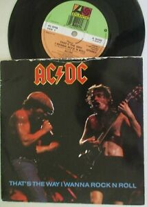 """AC/DC ~ That's The Way I Wanna Rock N Roll ~ 7"""" Single PS"""