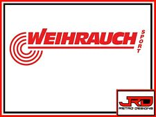 Weihrauch Vinyl Logo Sticker in Red