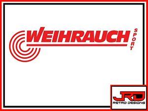Weihrauch Vinyl Logo Sticker in Red