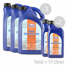 Car Engine Oil Service Kit / Pack 17 LITRES Gulf Competition 10w-60 racing 17L