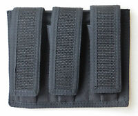 Triple Magazine Pouch - 9MM / 40 S&W / 45 ACP - Double Stacked Magazines