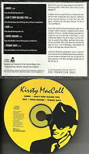 KIRSTY MacCOLL RARE 5 TRK SAMPLER w/ JOHNNY MARR the Smiths PROMO DJ CD Single