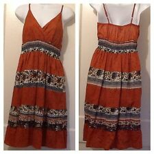 MAGIC Sundress Multicolor Medium NWT Spaghetti Straps Women Jrs Misses Juniors