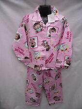 BNWT Girls Sz 7 Cute Pink/Print Long Warm Flannel Winter Style PJ Pyjamas