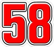 MARCO SIMONCELLI 58 adesivo
